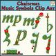 Christmas Music Symbols Clip Art