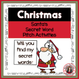Christmas Music: Treble and Bass Pitch Activities