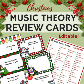 Christmas Music Worksheets w/100 Editable Task Cards!