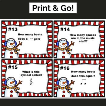 Christmas Music Worksheets w/100 Editable Task Cards!