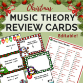 Christmas Music Worksheets & Chrismas Music Activities w/ 100 Editable TaskCards