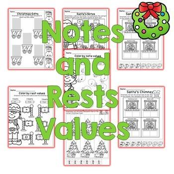 Christmas Music Worksheets 2