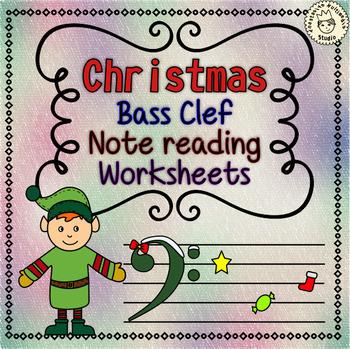 Christmas Music Worksheets - Staff Bundle