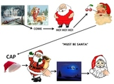 "Christmas: ""Must Be Santa"" Movements, Power Point Picture Graph & PDF File"