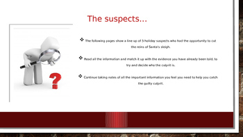 WHO DID IT? Christmas Mystery PowerPoint