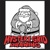 Mystery Grid Drawing - Hypno-Santa