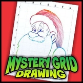 Mystery Grid Drawing - Santa Claus