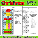 Christmas Math Color by Number Mystery Picture - Bird on Presents