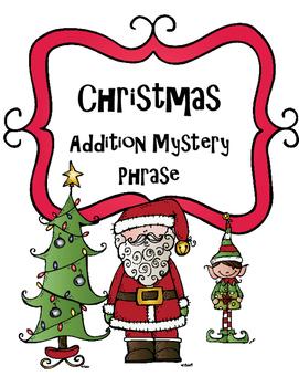 Christmas Addition Mystery Phrase: Happy Holidays