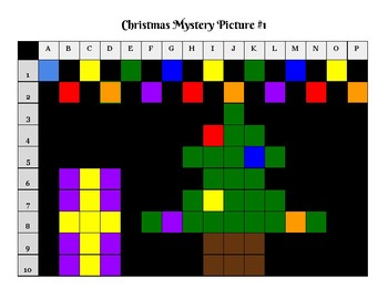 Christmas Mystery Picture Graph Fun Pack Activity-No Prep!!!