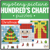Christmas Mystery Picture Hundreds Chart Puzzles