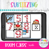 Christmas Mystery Picture Subitizing with Boom Cards Dista