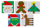 Christmas Mystery Pictures (Addition, Subtraction, Multiplication)