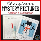 *Mystery Pictures Christmas - Addition and Subtraction Facts