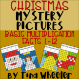 Christmas Mystery Pictures Basic Multiplication Facts 1-12 ~ Fact Fluency