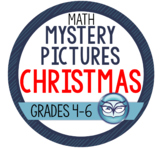 Christmas Mystery Pictures - Intermediate Math