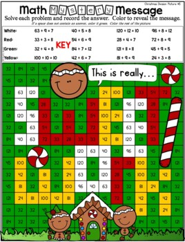 Christmas Multiplication and Division | Christmas Color by Number