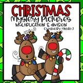 Christmas Mystery Pictures -- Multiplication & Division