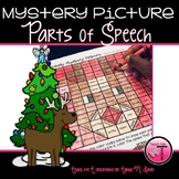Christmas Coloring Pages Parts of Speech Mystery Picture|