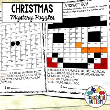 Christmas Activities: Mystery Puzzles