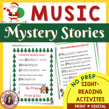 Christmas Music Activities: 6 Christmas Music Mystery Stories for Middle School