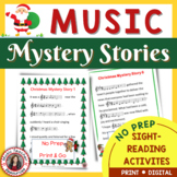 1 Christmas Music Activities: Christmas Music Mystery Stories for Middle School