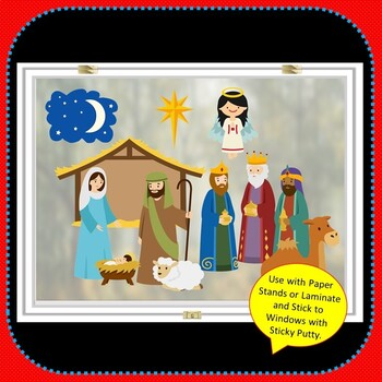 Christmas NATIVITY Activities BUNDLE Paper Dolls + Draw Your Own Christmas Story
