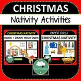 Christmas NATIVITY Activities BUNDLE Paper Dolls + Draw Yo
