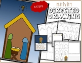 Christmas NATIVITY SCENE Directed Drawing & Writing Prompts