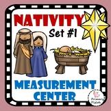Math Center Christmas NATIVITY Set #1 Measurement