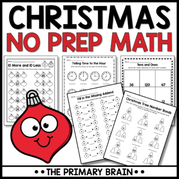 Christmas NO PREP Math Activity Pack