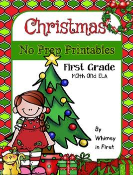 Christmas Activities - NO PREP Printables (First Grade)