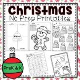 Christmas NO PREP Printables (PreK and Kindergarten)