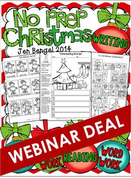 Christmas NO PREP Printables  *** WEBINAR EXCLUSIVE DEAL