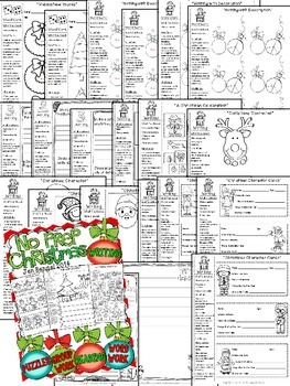 Christmas NO PREP Reading, Language, and Writing Printables {Grades 2-6}