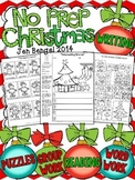 Christmas NO PREP Reading, Language, and Writing Printable