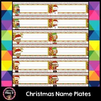 Christmas Name Plates