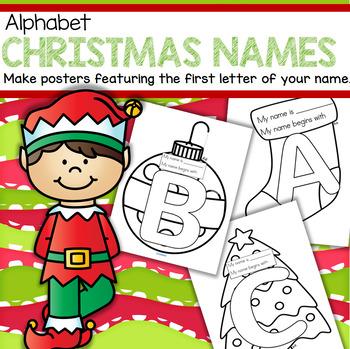 Christmas Name Posters