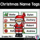 Christmas Name Tags - Editable