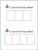 Christmas Name Writing Practice:Names w/3-9 letters:(4 pages)