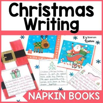 Christmas Napkin Book Writing Prompts