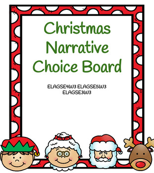 Christmas Narrative Choice Board