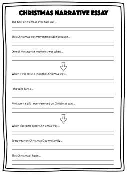 Christmas Narrative Essay Map