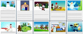 Christmas Narrative 'Plan and Writes' - Visual Prompts- Editable Planning Pages
