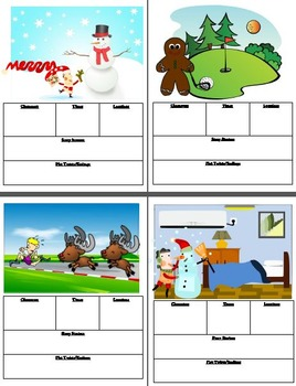 Christmas Narrative Story Writing Scoot or Writing Prompt Cards (Gr2-7)