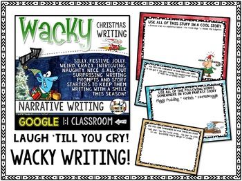 Christmas Narrative Writing: Writing Prompts and GOOGLE CLASSROOM ACTIVITIES