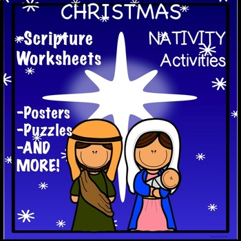Christmas Nativity Activity Scriptures Bible Verses Matthew 121