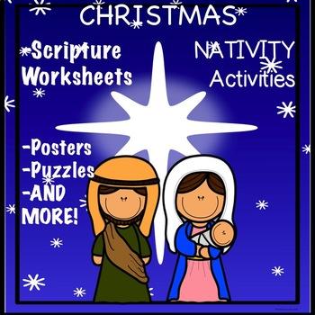 Christmas Nativity Activity Scriptures Bible Verses MATTHE