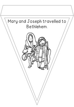 Religious Christmas Nativity Colouring In Banner