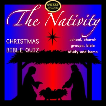 Christmas Nativity Bible Quiz (A4 format)